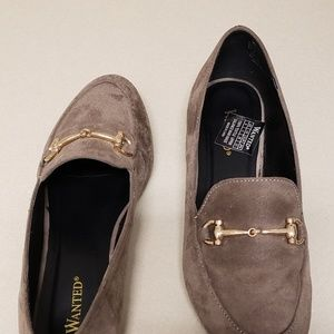WANTED suede loafers